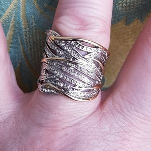 Jewelry - Silver and gold toned ring